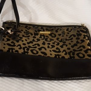 Juicy Couture wristlet animal print and Black